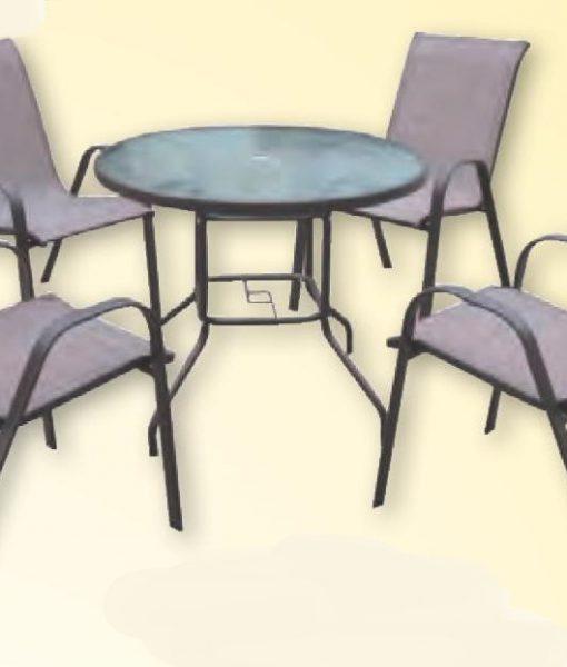 SET TABLE VERRE ALU DIA 102 52675