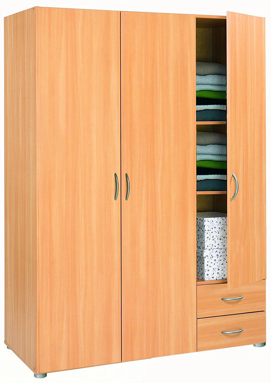 armoire 3 portes 2 tiroirs 32076 tahiti pas cher. Black Bedroom Furniture Sets. Home Design Ideas