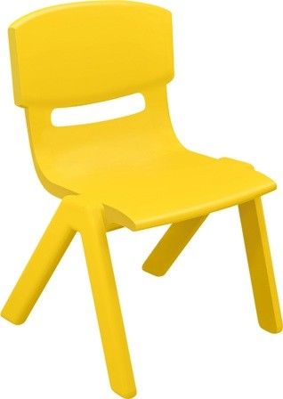CHAISE MOULEE JAUNE ADULTE