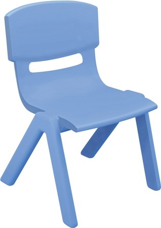 CHAISE MOULEE BLEUE ADULTE