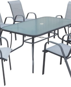 TABLE 150X90CM + 6 CHAISES 47810