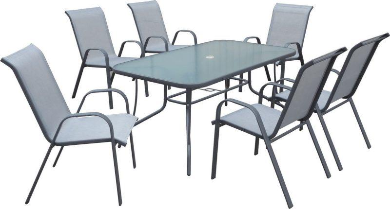 TABLE 150X90CM + 6 CHAISES 47810