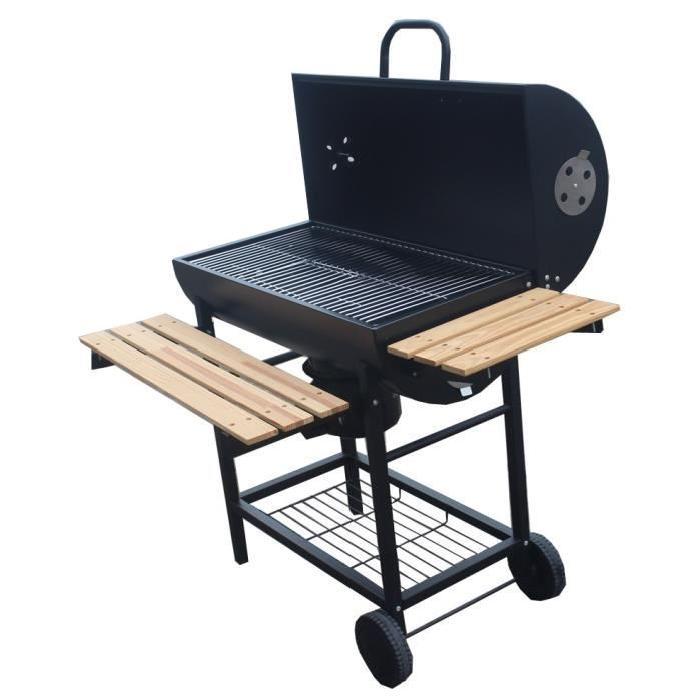 Barbecue charbon 76x40cm tahiti pas cher for Table exterieur lourde