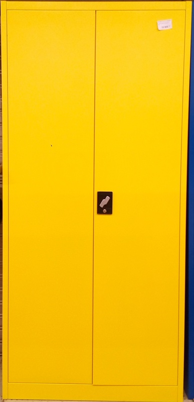 armoire metal 2 portes jaune