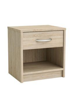 chevet 1 tiroir 1 niche chêne