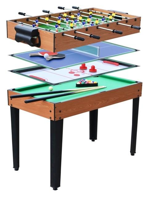 Table de jeux 4 en 1 tahiti pas cher for Table exterieur lourde