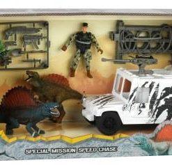 voiture et dinosaure