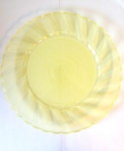 10 ASSIETTES PLASTIQUE TRANSPARENT JAUNE