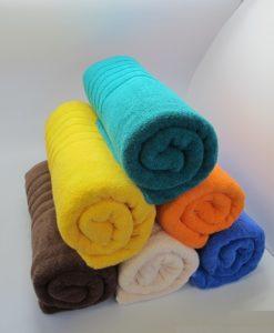 serviette de bain rouleaux