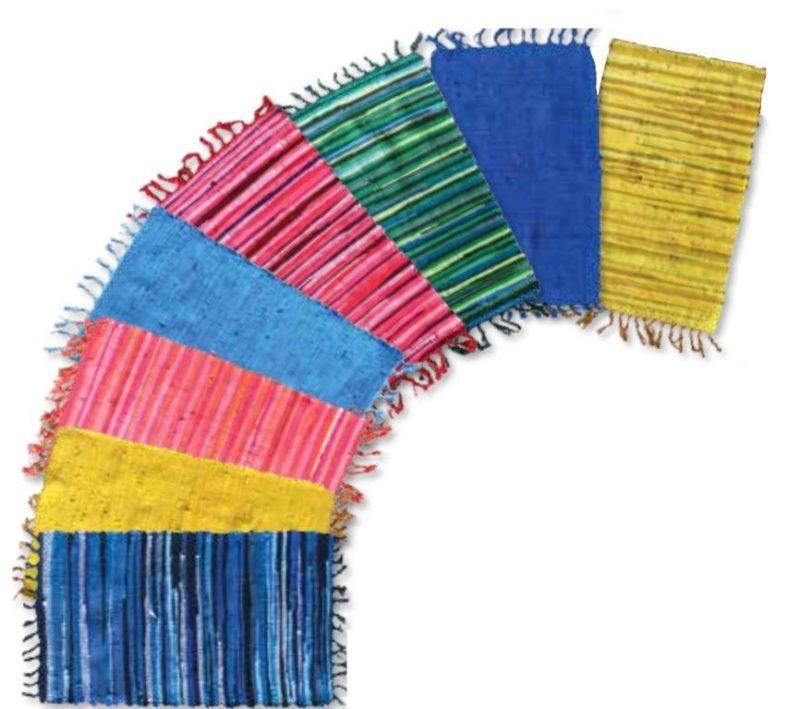 tapis mexicain uni ou rayé